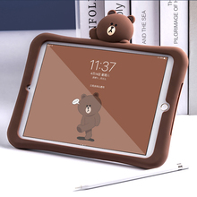 Case For iPad Mini 4 3 2 1 Pro 9.7 10.5 Inch 2 3 4 Bear Silicone Soft Case For iPad Air 2 1 2017 New iPad 2018 A1822 A1823 ST07