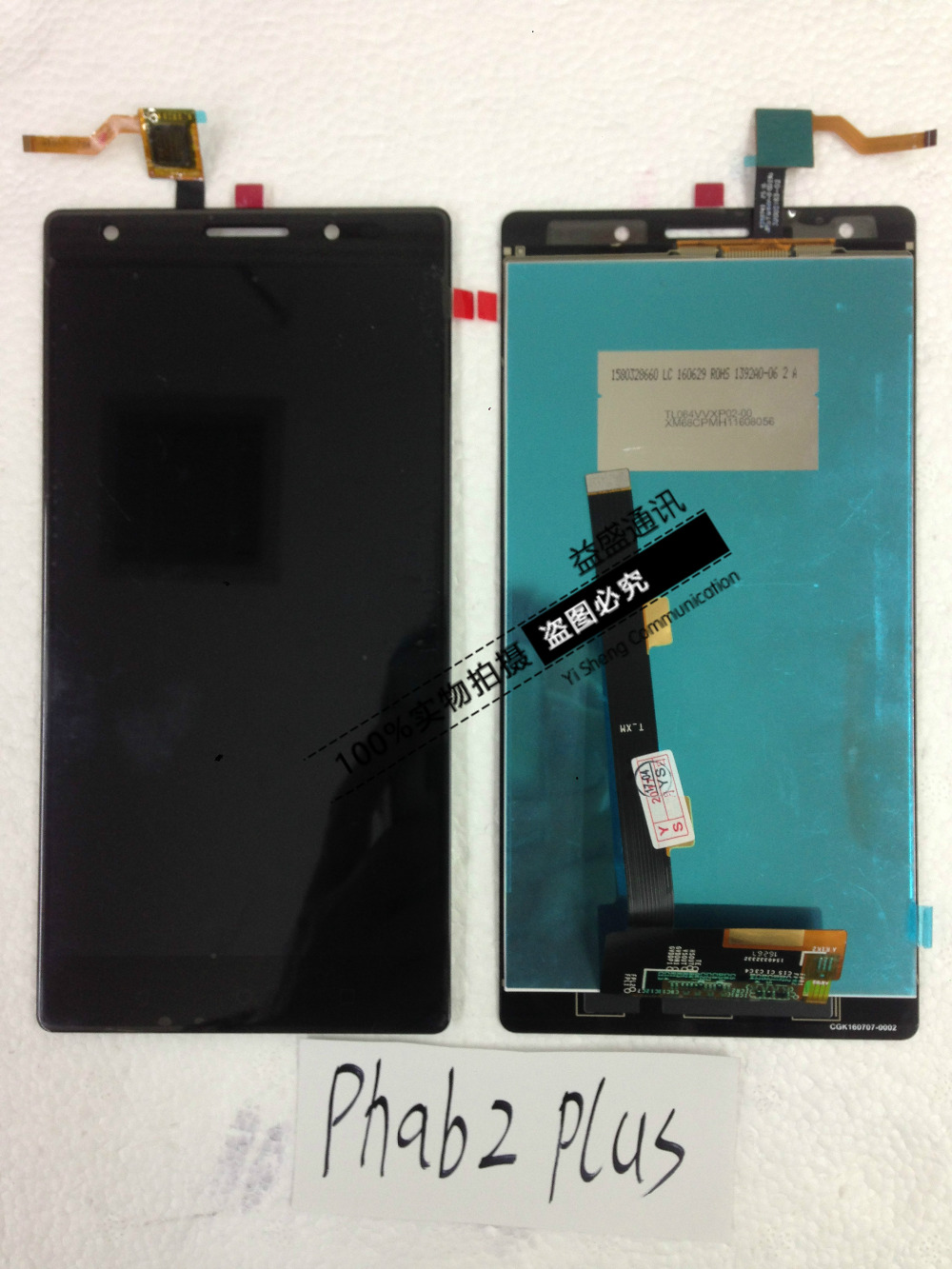 6.4inch For Lenovo PHAB 2 Plus LCD Display and Touch Screen 100% Original Screen Digitizer Assembly Replacement+Tools+Adhesive 100% original for lenovo p780 lcd display touch screen digitizer assembly replacement warranty tempered glass adhesive tools