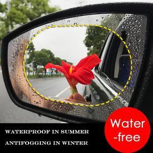 Image 3 - 2pcs Car Rearview Mirror Waterproof Anti Fog Rain Proof Film Side Window Film 100% High Quality New Guarantee Light Blue