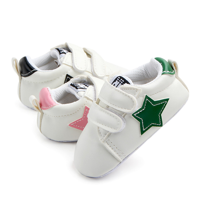 Newborn PU Leather Boots Soft Sole Baby Sports First Walkers Star Sneakers Infants Crib Toddler New Design