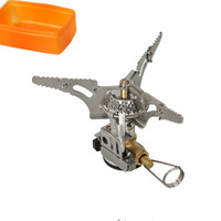 Portable Outdoor Camping Picnic Folding Mini Gas Stove With Piezo Ignition In Stock Hot