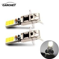 CARCHET 2X Car H3 COB LED White HeadLight Fog Lamp DRL Daytime Running Light Bulb 6000K