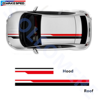 Car Hood Roof Sticker Racing Lines Vinyl Sticker For Volkswagen Ford Chevrolet Auto Body Customized Stickers