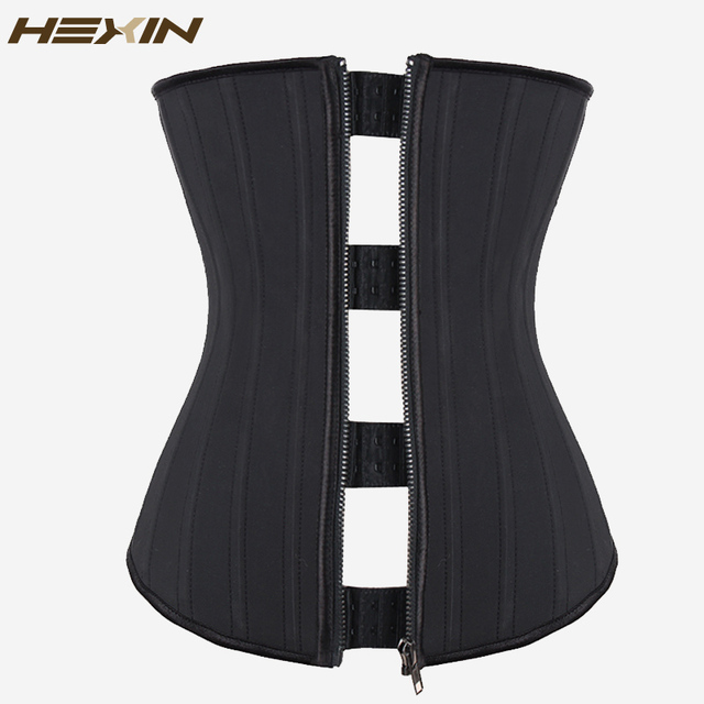 Эспандер для талии HEXIN, 25 стальных втулок, комбинированная застежка молния, латексная Молния и крючки, корсеты для нижнего бюста, формирователь тела