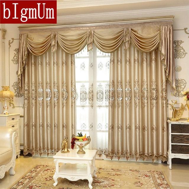 De luxe brod fen tre rideaux pour salon chambres h tel - Rideaux de fenetres maison ...