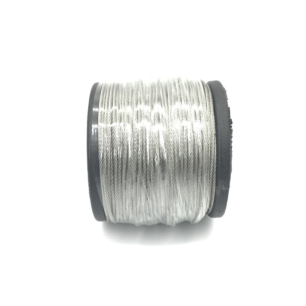 100m/lot 2mm High Stainless Steel Wire Rope Tensile Diameter 7X7 Structure Cable Gray  1 2mm dia 7x7 5 2m long flexible stainless steel wire cable for grinder