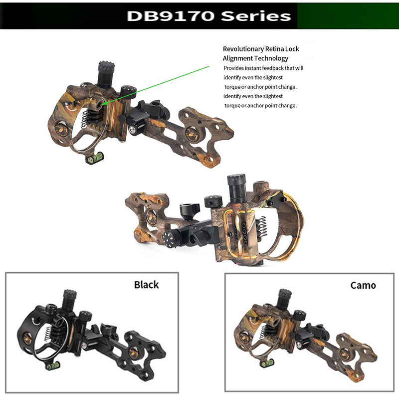 Image 3 - Archery Compound Bow Sight DB Series Retina Micro Adjust Sight 0.019 Fiber Optic 5 pins /7 pins Hunting Shooting Accessories-in Bow & Arrow from Sports & Entertainment