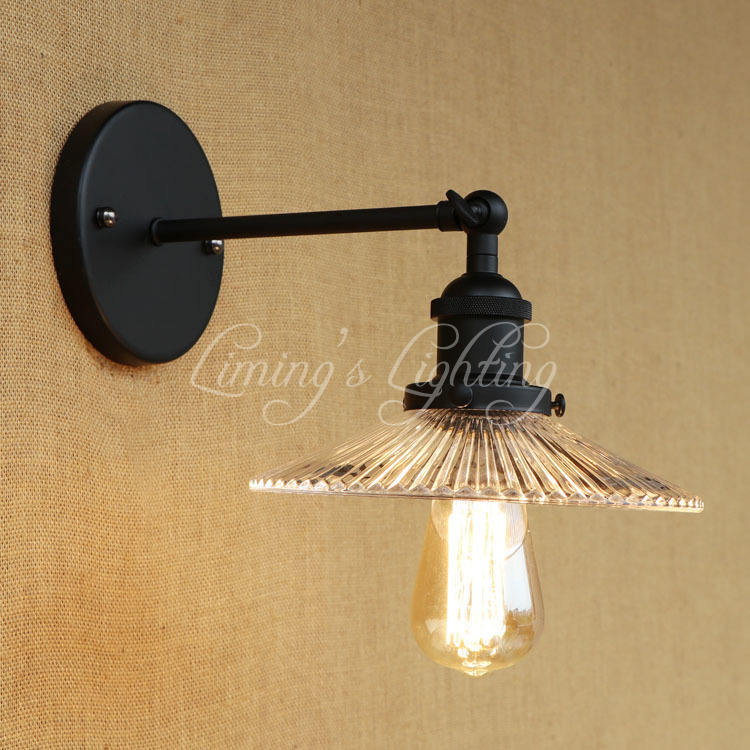 купить Retro Vintage Loft Style Edison Wall Sconce Iron Glass Vintage Wall Light Fixtures Industrial Wall Lamp Home Lighting Lamparas онлайн