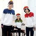 Familia A Juego Camisas A Juego Madre Daughte Familia Ropa de Navidad de la Familia de Padre E Hijo de Sudaderas Con Capucha de Algodón Trajes A Juego