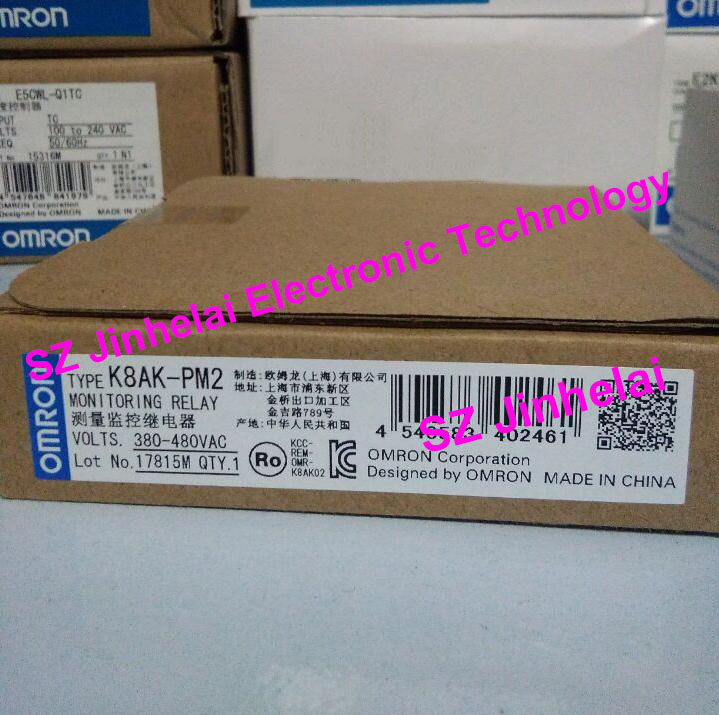 Authentic original OMRON 3-Phase voltage MONITORING RELAY K8AK-PM2 omron k8ak vw2 new and original 3 phase monitoring relay 24vac dc