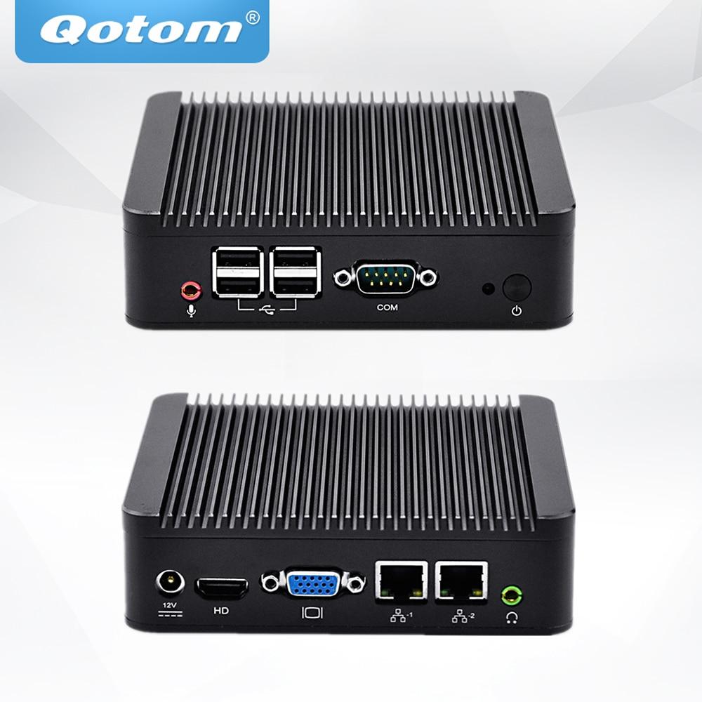 QOTOM Mini PC Q107S Celeron 1007U Processor, Dual LAN Mini PC Dual Core 1.5 GHz