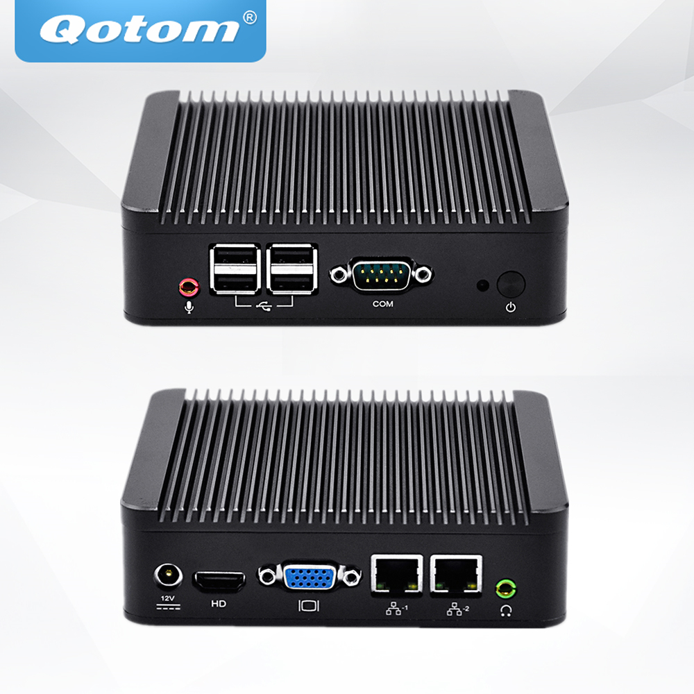 QOTOM Mini PC Q107S Celeron 1007U Processor, Dual LAN Mini PC Dual Core 1.5 GHz ...