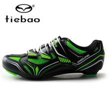 цена на TIEBAO Unisex Breathable Cycling Shoes Self-locking Road Bike Shoes Bicycle Shoes Sapatilha Ciclismo Cycling Shoes SPD Road