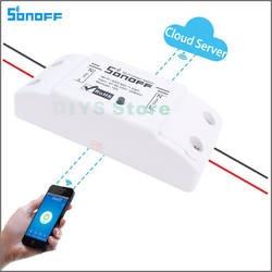 ITEAD sonoff Беспроводной переключатель Wi-Fi для умного дома автоматизации реле Модуль 10A 90-250 В 220 В Поддержка IOS android-пульт дистанционного