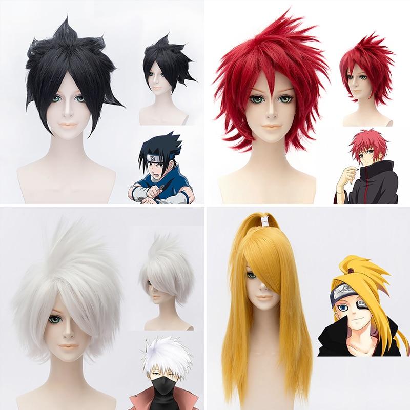 Japanese NARUTO Charactors wig Uchiha Sasuke wig/ Deidara Yellow wig/Uchiha Itachi black ...