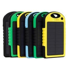 Painel do Telefone Água com LED MAH para Xiaomi Portátil Solar Power Bank 5000 2 Iphone Bateria Externa Powerbank Móvel À Prova D'