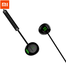 Oryginalny Xiaomi czarny rekina słuchawkowe typu C pół douszne z mikrofonem 14mm duże jednostki napędowej słuchawki do Xiaomi czarny rekina telefon