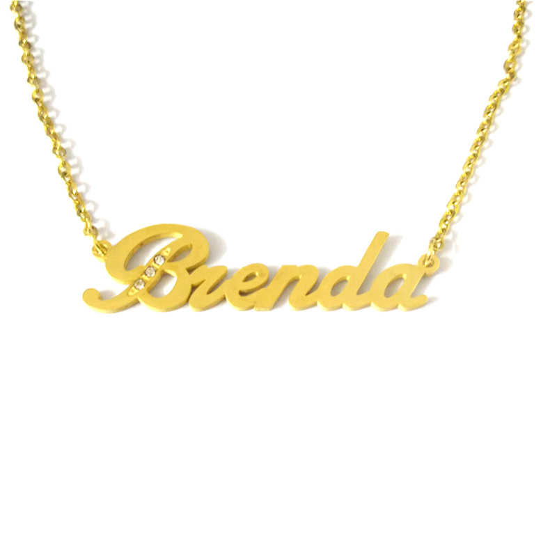 34888d90f ... FairLadyHood Brenda Custom Name Necklace Personalized Necklace  Stainless Steel Jewelry Customized Necklace