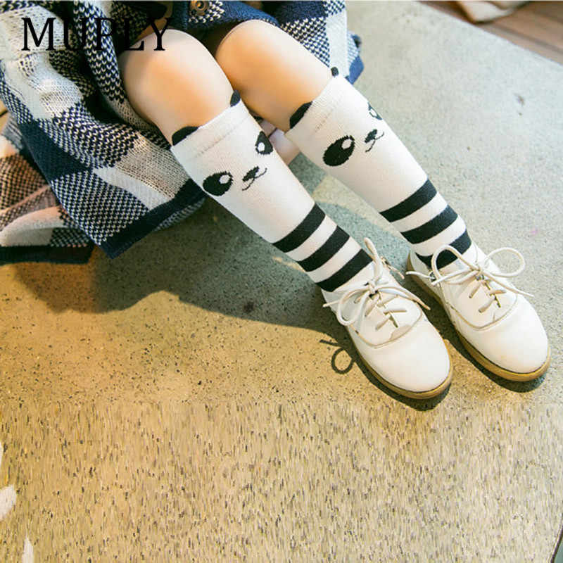 33e81c88fa4 Cotton Baby Socks Animal Printed Knee High Kids Boy Girl Cute Socks Anti  Slip Cartoon Cat