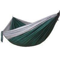 Portable Hammock For Backyard Garden Outdoor Tree Hanging Swing Nylon Hamak Camping Sleeping Bed Hamac Outdoor