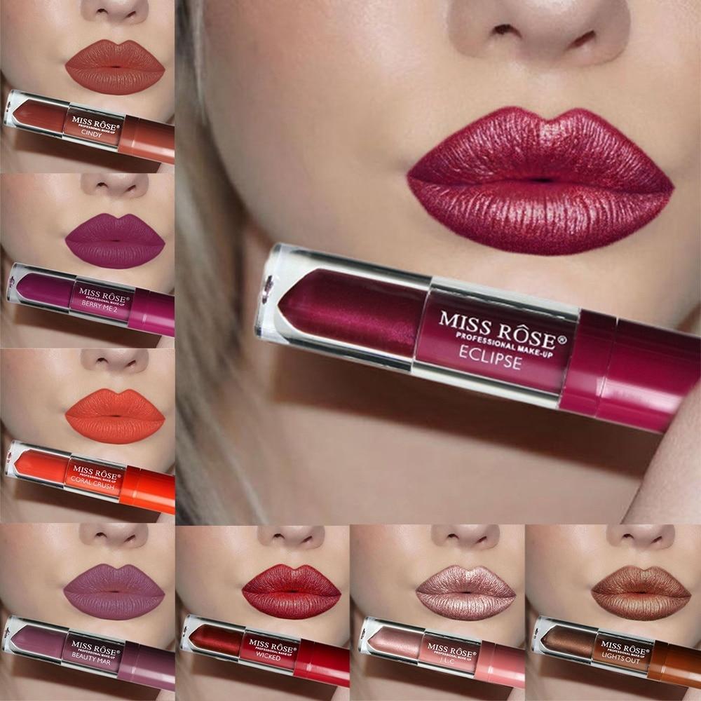 24 Color Liquid Lipstick Waterproof Long-lasting Non-stick Cup Lip Gloss Makeup Lips Matte Nude Metallic Mate Lipsticks 1