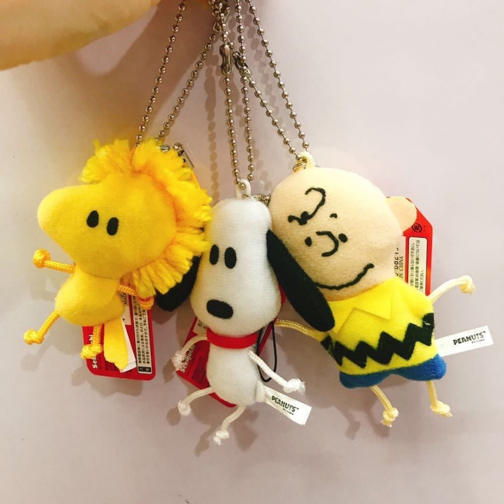 12pcs set 10cm Plush Peanuts bailor chibi moon keychain charm oyuncak pendants doll present gift girls