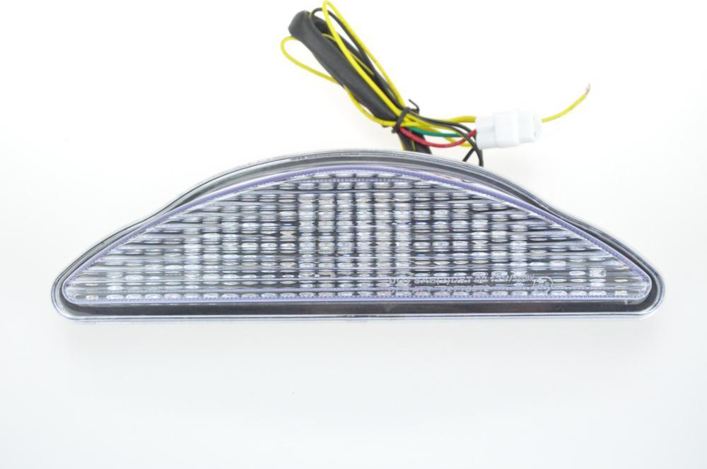 Светодиодный Встроенный задний фонарь поворотник для YAMAHA RAIDER 08-17 - Цвет: Прозрачный
