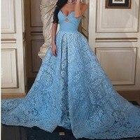 Ice голубое платье для вечерние платья кружевной халат De Soiree Сексуальные вечерние платья Праздничное платье длинное вечернее платье с аппли