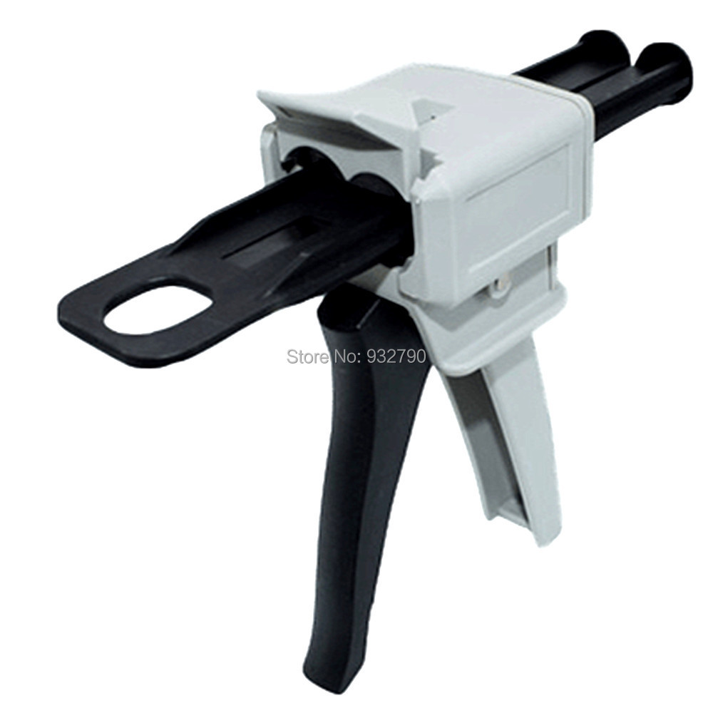 50ml 1:1 Mix Ratio Manual Epoxy Applicator Manual Cartridge Caulking Gun Dispensing Gun For 50ml 1:1 Epoxy Cartridge