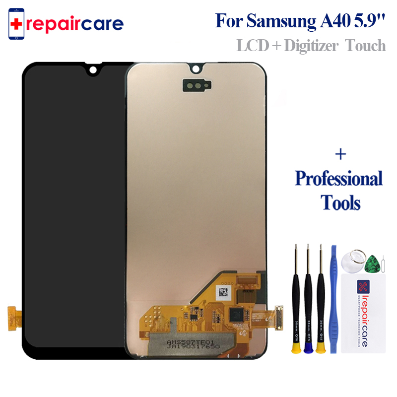 AMOLED For <font><b>Samsung</b></font> Galaxy <font><b>A40</b></font> A405F/DS A405F A405FD A405A <font><b>LCD</b></font> Display Touch Screen Digitizer Assembly For <font><b>Samsung</b></font> <font><b>A40</b></font> <font><b>lcd</b></font> image