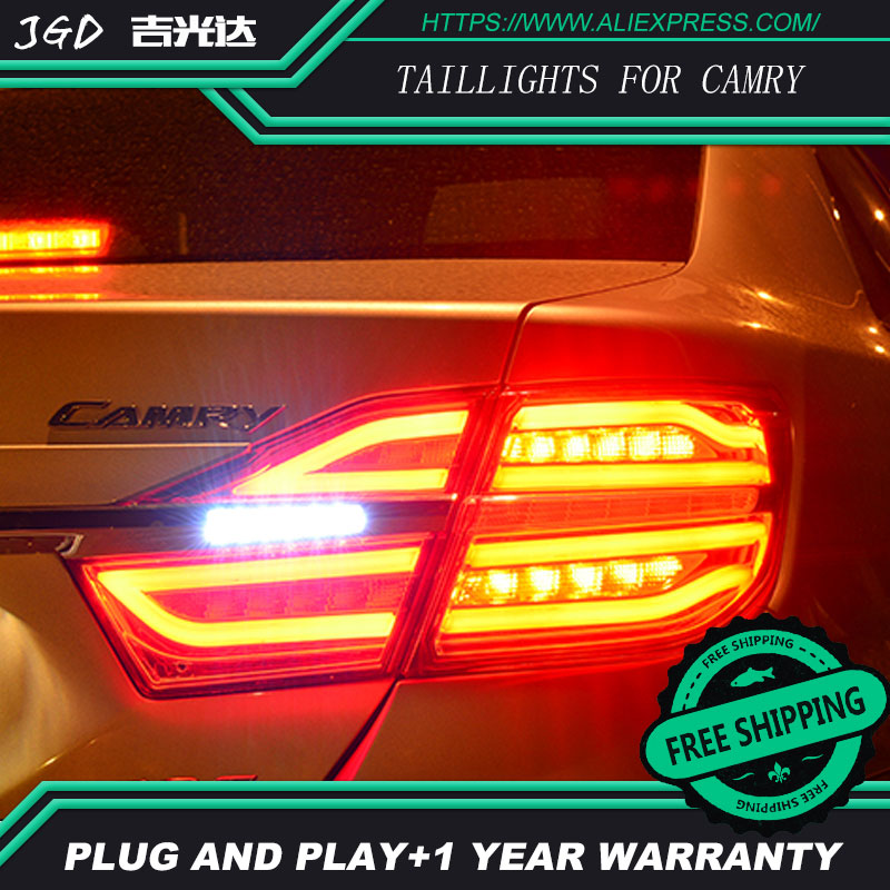 Car Styling tail lights for Toyota Camry 2015 taillights LED Tail Lamp rear trunk lamp cover drl+signal+brake+reverse car styling tail lights for toyota corolla 2011 2013 taillights led tail lamp rear trunk lamp cover drl signal brake reverse