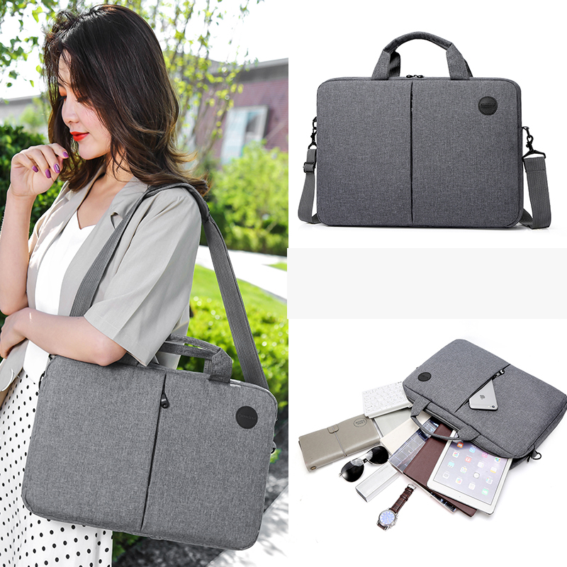 Work Bag Briefcase Solid Color Computer Laptop Bate Ffice High Capacity Scratch Resistant Bags For Women