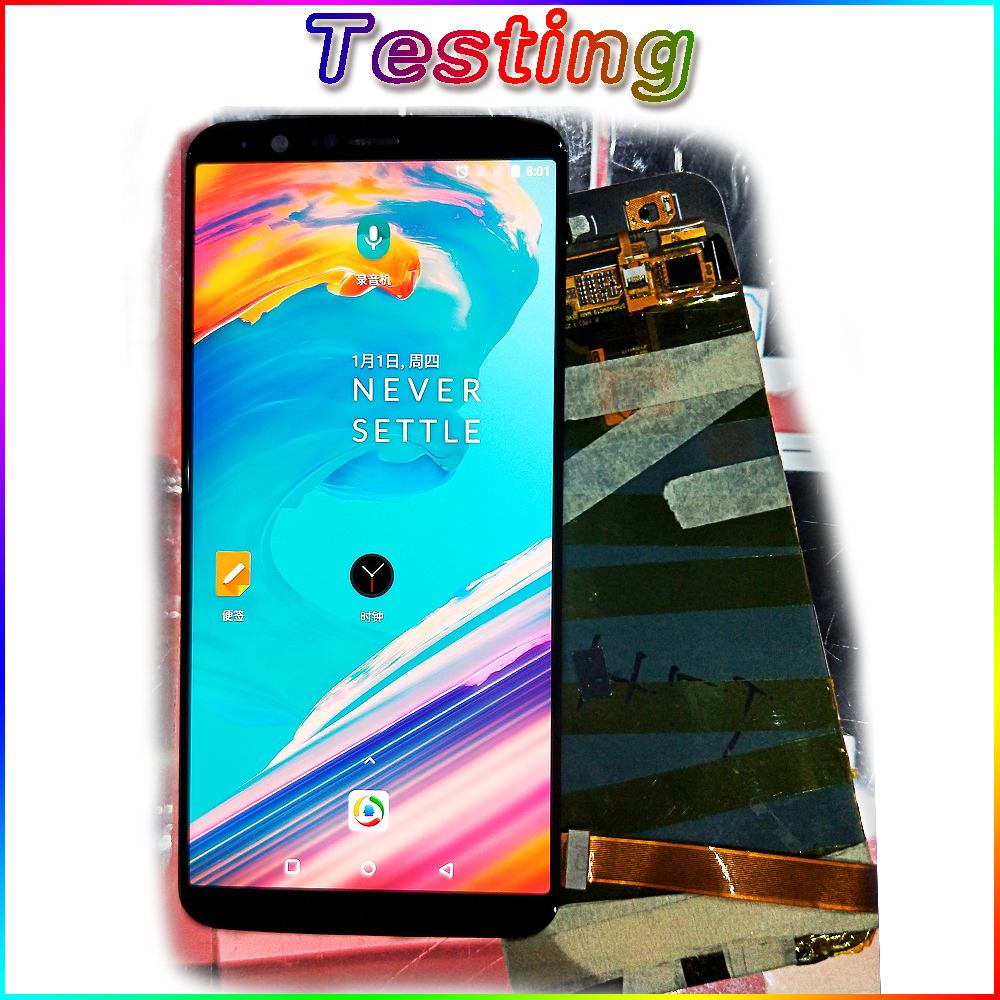 AAA Amoled LCD Display For Oneplus 5T A5010 touch screen 2160*1080 Digitizer Assembly 6.01 inch Frame with Free Tempered Glass-in Mobile Phone LCD Screens from Cellphones & Telecommunications    2