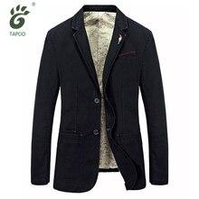 Plus size S-4XL Spring Autumn jacket mens leisure blazers brand TAPOO man blazer casual suit jacket denim blaser masculino