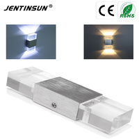 175 60 30 Mm Mini Acrylic 6W LED Wall Lamp Modern AC85 265V Mounted Sconce Indoor