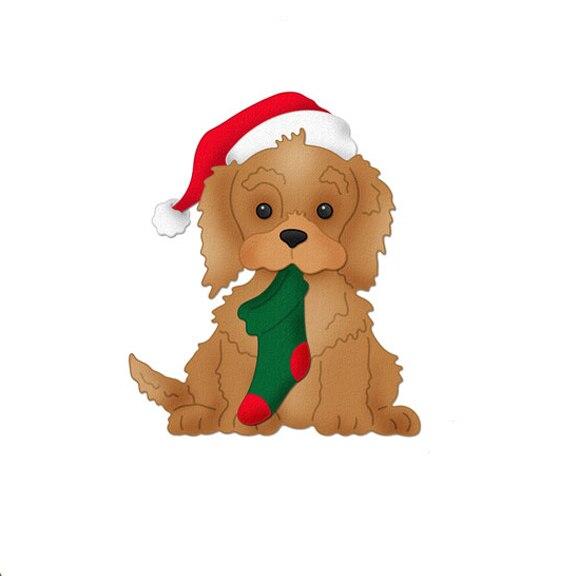 8,2X9,4 см собака с носок Рождество умирает резки металла умирает Новый 2019 умирает Скрапбукинг Новые поступления металла высечки задний план