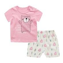 ed6044dfa 2018 niños conjuntos de ropa de verano de bebé niños ropa de niña traje de  camisa + Pantalones 2 piezas ropa venta barato