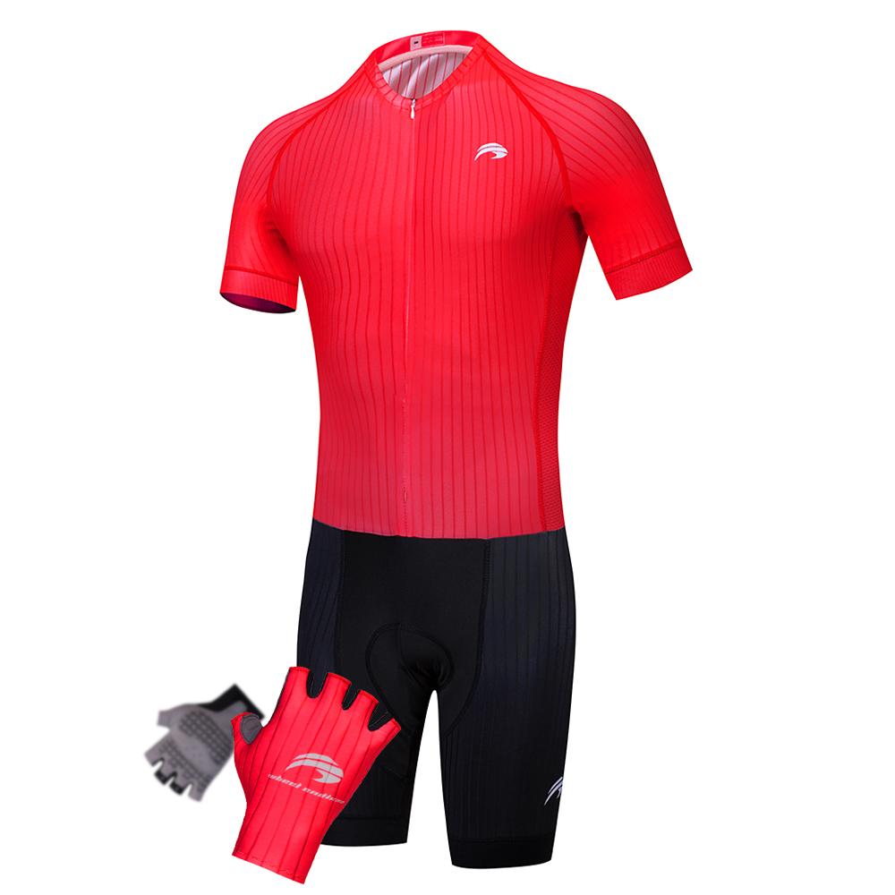 WHEEL ENDLES 2018 New Contest Cycling Short Sleeve Set Riding Bicycling Cycling Ropa Ciclismo Bicycle Jersey + Gloves teleyi team cycling outfits mens ropa ciclismo long sleeve jersey bib pants kits bicycle jacket trousers set red black