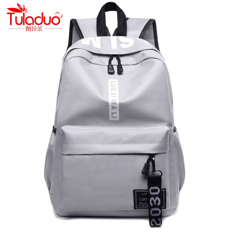 Double Zipper Leisure Women Backpacks Fashion Solid School Bags For Teeanger Girls High Quality Waterproof Nylon Women Rucksack