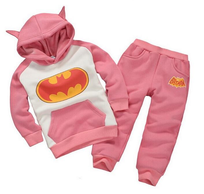Batman set baby jungen kleidung set kinder hoodies hosen verdicken winter warme kleidung jungen mädchen sets 2019 herbst neue ankunft