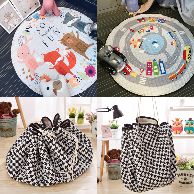 Stock Clearance round Rug Toys Storage Bag