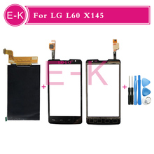 "4.3"" Original For LG L60 X145 Touch Screen Digitizer Sensor Glass + Lcd display Black White +Tools Free shipping"