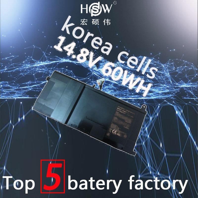 A HSW 14.8 V Bateria para Clevo 60Wh P650SA P650SE P650SG para Sager NP8650 NP8651 NP8652 P650BAT-4 bateria akku