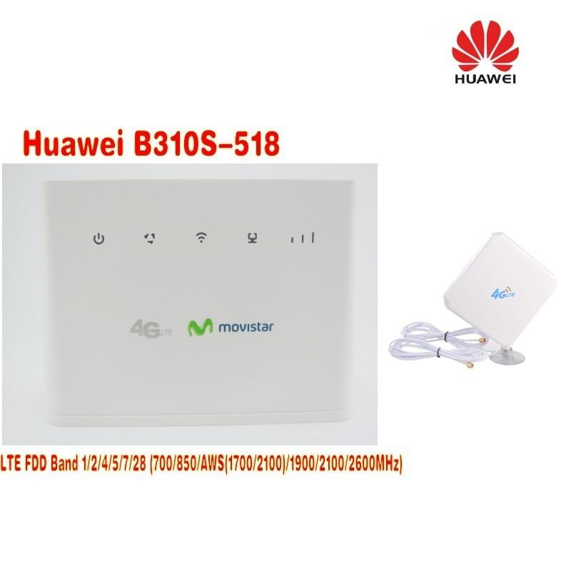 (+35dbi SMA 4g antenna)UNLOCKED Huawei B310s-518 4G LTE CPE Router