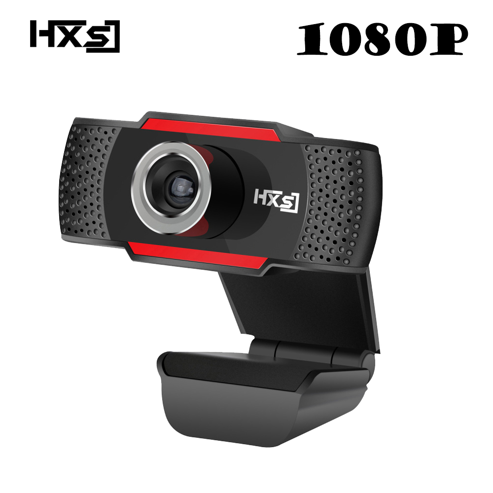 HXSJ HD 1080P Webcam Rotatable PC Computer Camera Video Calling and Recording with Noise-canceling Mic Clip on Style logitech c270 720p 3 mp widescreen hd webcam with video calling and recording