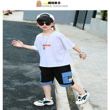 Dragon pearl boys' summer suit new fashion cuhk boy handsome sports summer short sleeve shorts diverse cartoon boys clothes(China)