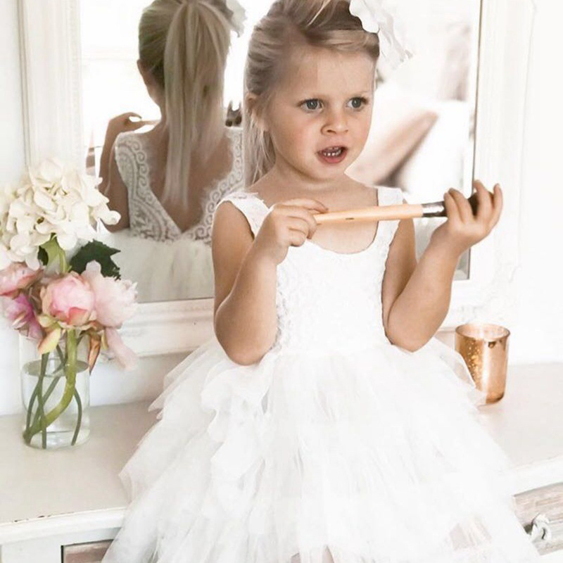 HTB1CpiBikKWBuNjy1zjq6AOypXaU Summer Dresses For Girl 2018 Girls Clothing White Beading Princess Party Dress Elegant Ceremony 4 5 6 Years Teenage Girl Costume