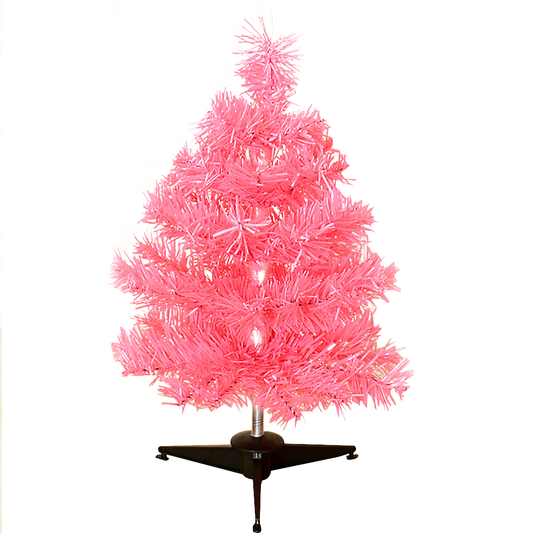 Pink Artificial Christmas Tree.Us 6 21 29 Off Mini Artificial Christmas Tree Creative Tinsel Tabletop Ornament Pink Xmas Tree New Year Desktop Decorations Home Ornaments In Trees