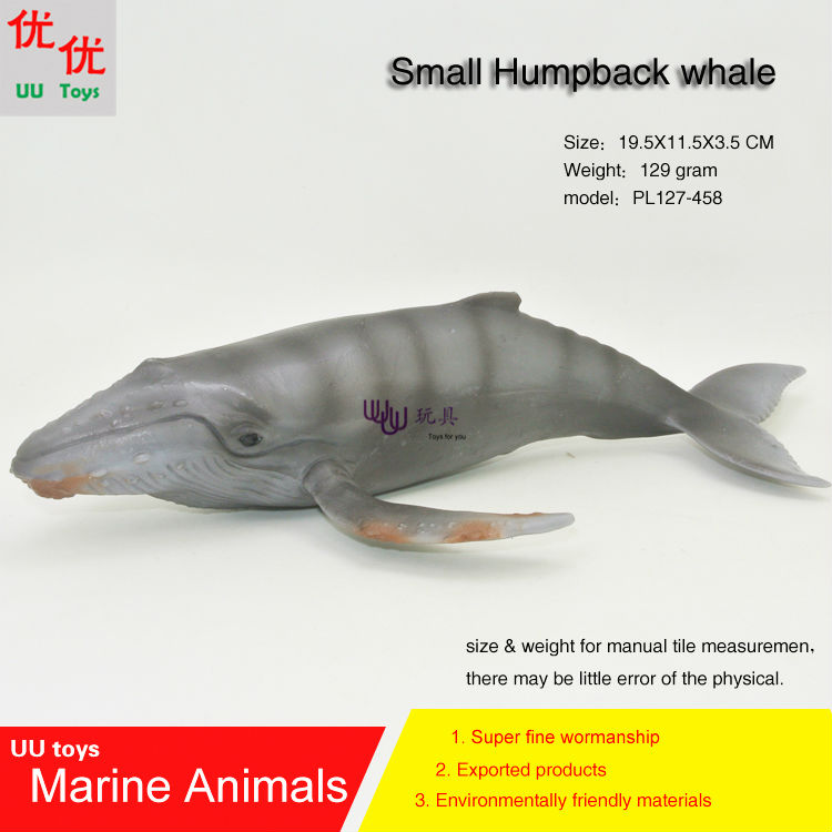 Hot toys little humpback whale Simulation model Marine Animals Sea Animal kids gift educational props Action Figures easyway sea life gray shark great white shark simulation animal model action figures toys educational collection gift for kids