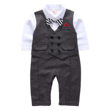 AmzBarley Newborn Baby suit cotton boys rompers Gentleman Rompers infant Jumpsuit formal Autumn Clothes for 3-18M